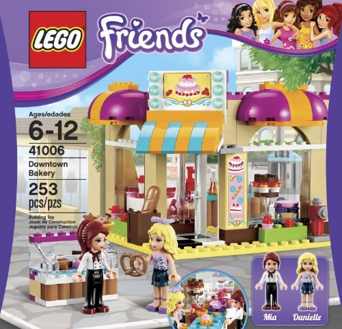 LEGO Friends Downtown Bakery (253pcs) Figures Building Block Toys (Friends Lego Downtown Bakery compare prices)