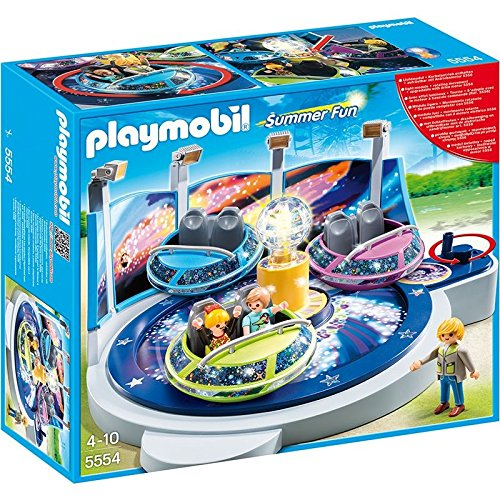 Playmobil Summer Fun Spinning Spaceship Ride With Lights