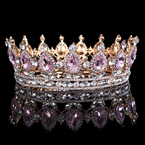 santfe-2-height-silver-gold-plated-crystal-rhinestone-ruby-full-circle-tiara-crown-bridal-wedding-je