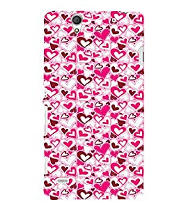 EPICCASE Mad hearts Mobile Back Case Cover For Sony Xperia C4 (Designer Case)