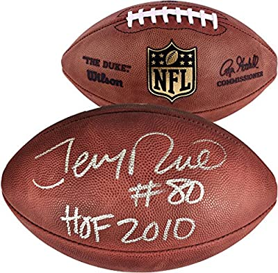 Jerry Rice San Francisco 49ers Autographed Wilson Pro Football with HOF 2010 Inscription - Fanatics Authentic Certified