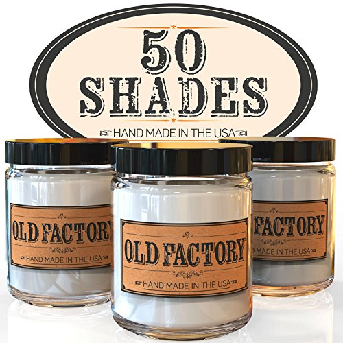 Scented Candles - 50 Shades - Set of 3: Leather, Jasmine Bubbles, and Vanilla Sex - 3 x 4-Ounce Soy Candles (Massage Table Sex compare prices)