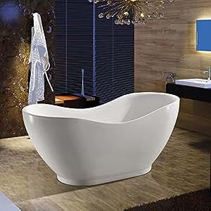 AKDY Bathroom Oval White Color FreeStanding Acrylic