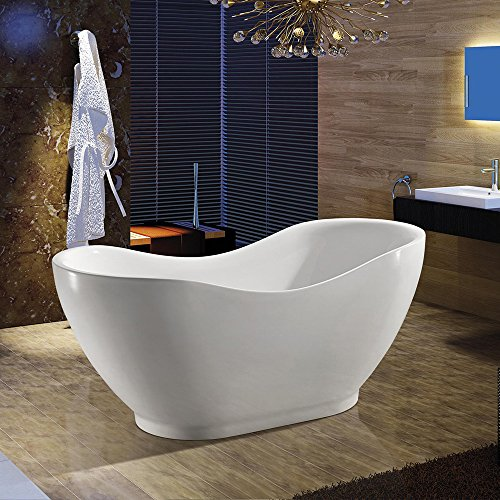 Best Price AKDY Bathroom Oval White Color FreeStanding Acrylic Shower Soaking Bathtub AZ-F290