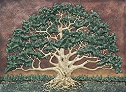 The Wisdom Tree - Cast Paper - Green - Spreading Oak - Landscape - Arbor - Great Oak