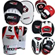 RDX Boxing Focus Punch Mitts MMA Training Punching Hook & Jab Strike Pads Traget With Bag Gloves