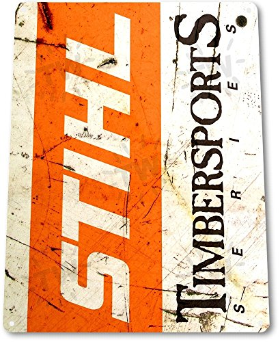 TIN-SIGN-Stihl-Timbersports-Rust-Chainsaw-Power-Tools-Toolbox-Garage-B101