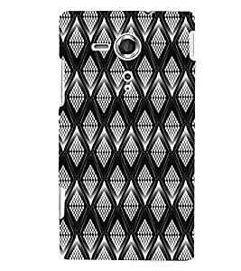 PrintVisa Corporate Print & Pattern Wired Mesh 3D Hard Polycarbonate Designer Back Case Cover for Sony Xperia SP