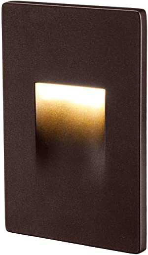 LEONLITE 120V Dimmable LED Step Light, 3.5W 3000K Warm White, 110lm High CRI 90, ETL Listed Indoor Outdoor Stair Light, Aluminum Waterproof Staircase Light, 5-Year Warranty, Oil Rubbed Bronze (Color: Vertical Mount, Tamaño: 1 Pack)