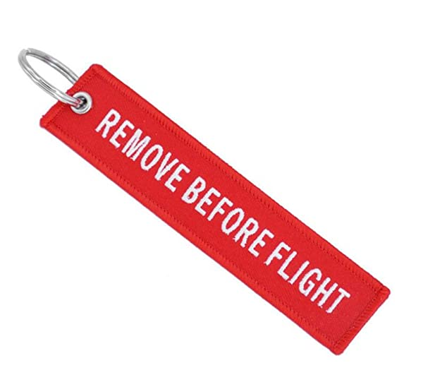 Heyuni.1PC Remove Before Flight DARK RED Key Chain Aviation ATV Motorcycle Pilot Crew Tag (Color: As picture, Tamaño: As description)