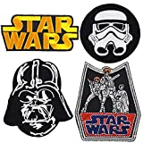Set of 4 - Star Wars Iron on Embroidered Patches Super Saving Pack