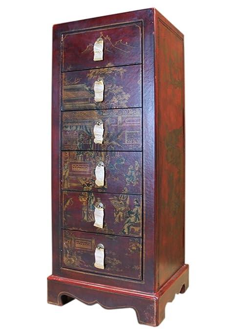 China pequeño cajón Torre coleccionistas Armario con seis schueben clásica musculatura