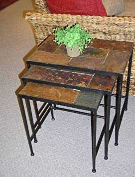 4D Concepts Slate Top Nesting Tables