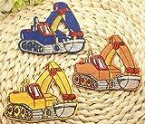 ショベルカー 働く車 ワッペン 15枚 セット アイロンワッペン アップリケ 入園準備 パッチ 目印 男児 [並行輸入品]