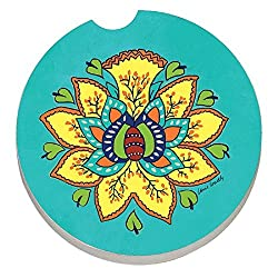 See Agave Azul, Floral Pattern - Car Coaster Details