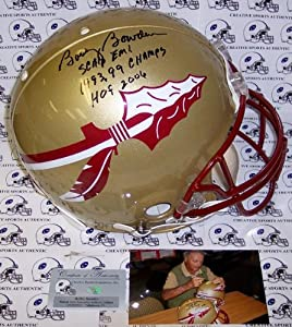 Bobby Bowden Hand Signed Florida State Seminoles Authentic Career Stat Proline Helmet... by Sports+Memorabilia