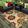 Orian Rugs Indoor/Outdoor Medallion Fahri Multi Area Rug (5\'2\