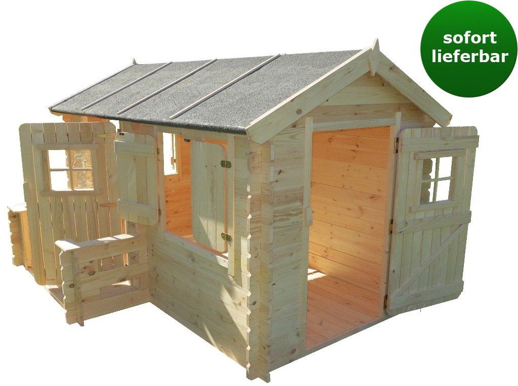 Spielhaus Deluxe Rodney Park aus 19mm Blockbohlen – 2,35 x 1,75 Meter online kaufen