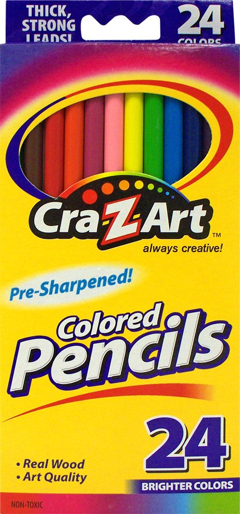 Cra-Z-art Colored Pencils, 24 Count (10403) (Color: Assorted, Tamaño: 24 Count)