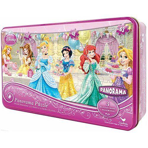 Princess Panorama Puzzle in a Tin