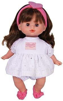 Petitcollin - 772824 - Poupée et Mini-Poupée - Câline à Corps - Tissu à Fleurs - Petit Coeur - 28 cm