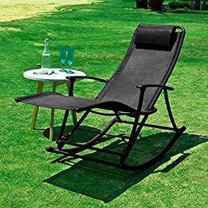 sobuy ogs18 sch outdoor indoor relaxing rocking chair with footrest folding textoline sun. Black Bedroom Furniture Sets. Home Design Ideas
