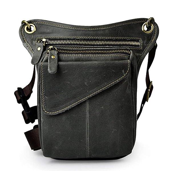 18bf7c712297 Hebetag Vintage Leather Waist Pack Drop Leg Bag for Men Women Belt ...