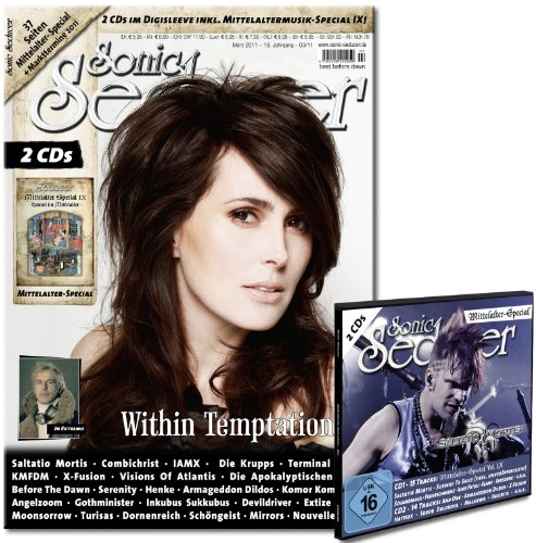 Sonic Seducer 03-11 mit 2 CDs im Digisleeve + 37 Seiten Mittelalter-Special IX, Bands: Within Temptation, In Extremo, Subway To Sally, Saltatio Mortis, Combichrist, IAMX uvm.