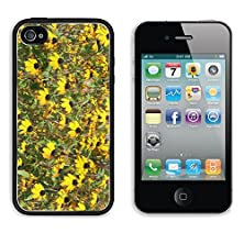 buy Msd Apple Iphone 4 Iphone 4S Aluminum Plate Bumper Snap Case Floral Background With Yellow Flowers Image 22982254