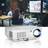 EUG LCD Multimedia HD 1080P Projector Home Theater 1280x800 Native 3600 Lumen Portable LED Display 200