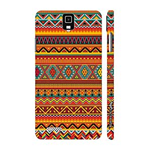 Infocus M330 Aztec Orange designer mobile hard shell case by Enthopia