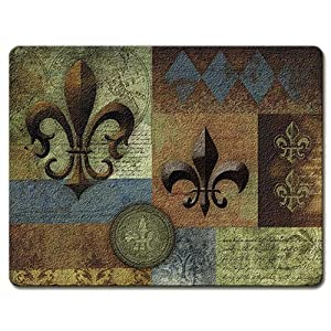 Home Decor Fleur De Lis Tempered Glass Cutting Board Fleur De