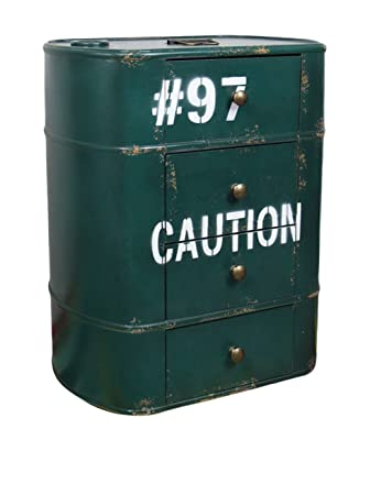 LO+DEMODA Caution - Cajonera, color verde musgo