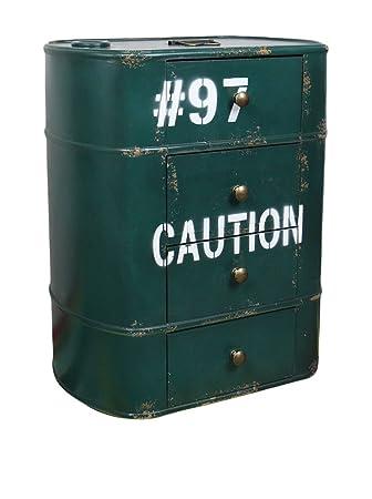 LO+DEMODA Caution - Cajonera, color verde musgo