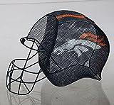 NFL Denver Broncos Football Helmet Bottle and Cork Cage Holder, Small, Multicolored