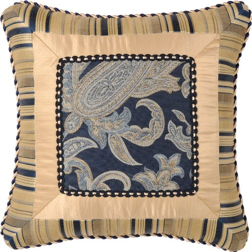 Jennifer Taylor Hampton Collection Pillow, 18-Inch by 18-Inch