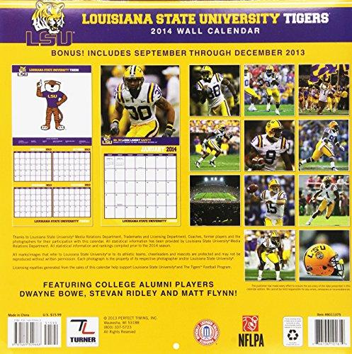 Louisiana State University Tigers 2014 Calendar