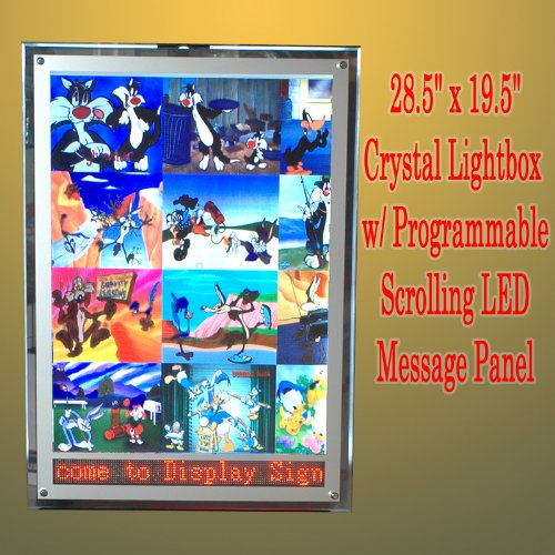 A2 LED Crystal Frame Light Box LED Programmable Scrolling Message Lightbox Display Panel