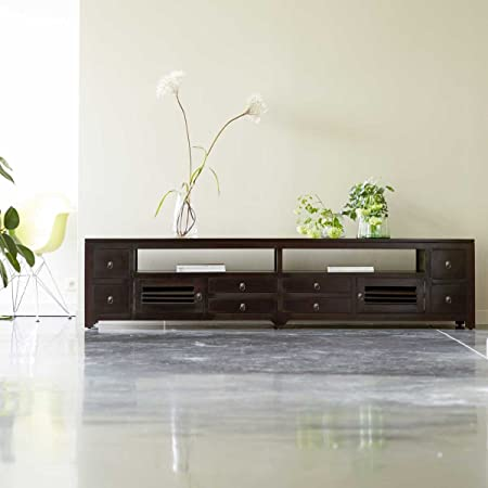 TV-Bank TV-Rack Lowboard aus Mahagoni Sideboard Unterschrank neu