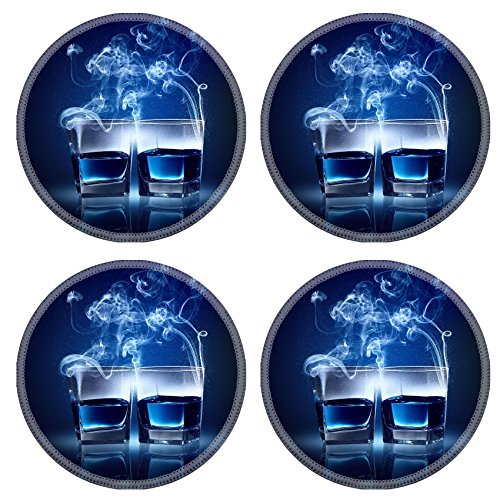 Luxlady Natural Rubber Round Coasters IMAGE ID 33831600 Winter Extreme Sport Background Active Outdoor Design