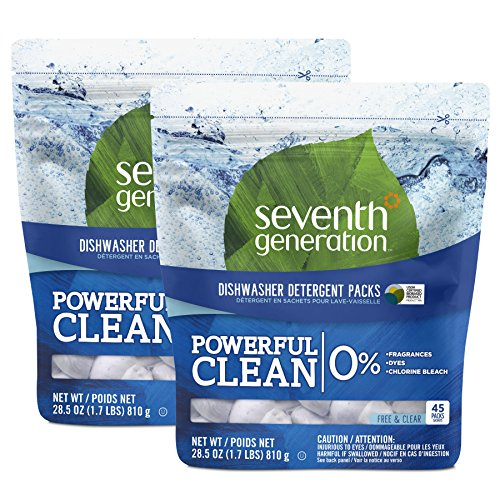 Seventh Generation Natural Dishwasher Detergent Packs, 90 Count (Seventh Dishwasher Detergent compare prices)