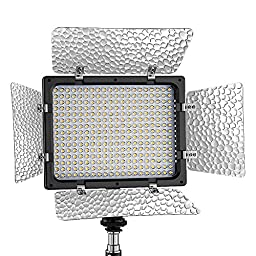 Bestlight® W300 LED Photo Studio 6000K Barndoor Light Continuous Output Lighting Panel Video Light with Filters for Sony,Canon,Panasonic,Hitachi,Samsung and Other Digital Cameras