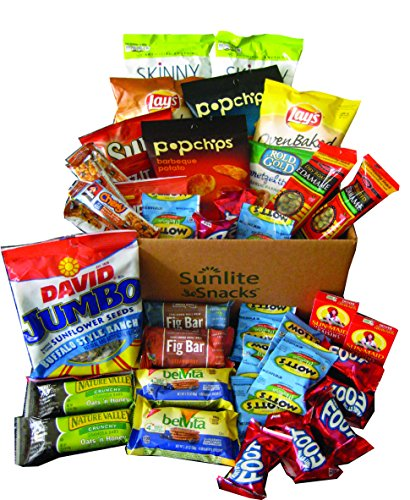 Sunlite Snacks Healthy Snacks and Treats Box, Father's Day, College Campus, Military, Breakroom, Gift, Care Package