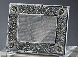 Beaded Framed Earring Display in Smoke Color