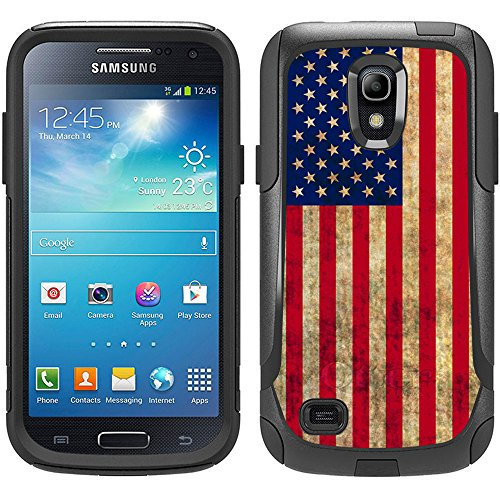 Skin Decal for Otterbox Commuter Samsung Galaxy S4 Mini Case - Retro American Flag Design (Samsung Galaxy S4 Mini Decal compare prices)