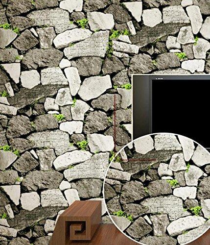 BBSLT Culturale pastorale cinese rock salotto divano TV parete di sfondo Hotel shop sfondo , 1 , 0.53m*10m