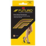 Futuro Energizing Ultra Sheer Pantyhose for Women, Helps Relieve Symptoms of Mild Spider Veins, Mild Compression, French Cut, Medium, Nude (Color: Nude, Tamaño: medium)