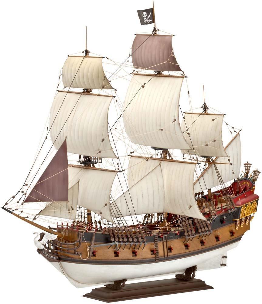 Maqueta de barco pirata escala 1:72