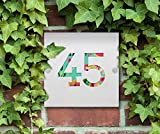 Modern/House Number/Sign/Plaque/ Your Name/Number/Street (Brushed Aluminium Composite)