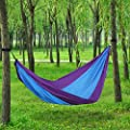 Songmics Portable Prachute Hammock Nylon Fabric Patio Camping Hanging 118'' x 55'' UGDC30L